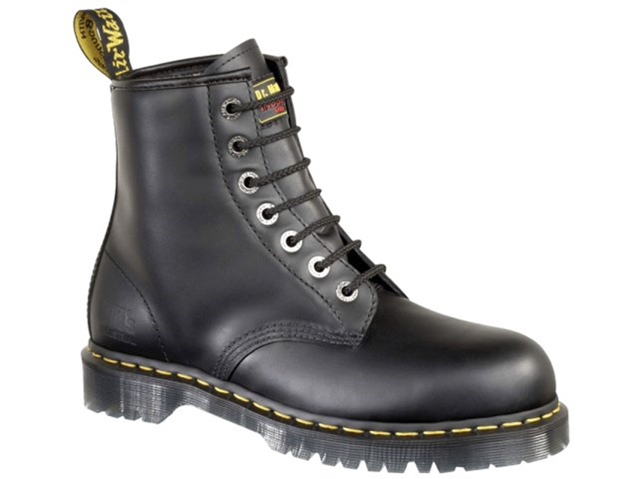 b8068897619 Dr Martens 2028 Smooth Leather Dealer Safety Boots (Icon Black)